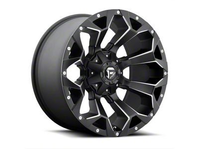 Fuel Wheels Assault Black Milled 6-Lug Wheel - 22x12 (99-18 Silverado 1500)