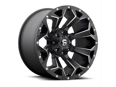Fuel Wheels Assault Matte Black Milled 6-Lug Wheel - 24x11 (99-18 Silverado 1500)