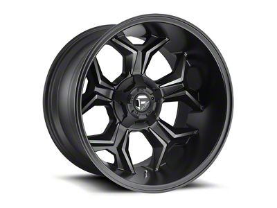 Fuel Wheels Avenger Black Machined w/ Dark Tint 6-Lug Wheel - 20x10 (99-18 Silverado 1500)