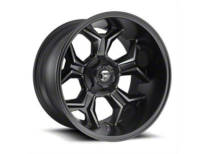 Fuel Wheels Avenger Black Machined w/ Dark Tint 6-Lug Wheel - 20x12 (99-19 Silverado 1500)