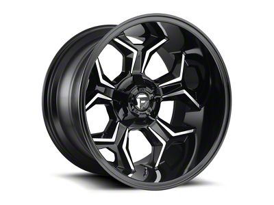 Fuel Wheels Avenger Gloss Black Machined 6-Lug Wheel - 20x10 (99-18 Silverado 1500)