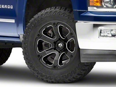 Fuel Wheels Beast Gloss Black Milled 6-Lug Wheel - 20x12 (99-18 Silverado 1500)
