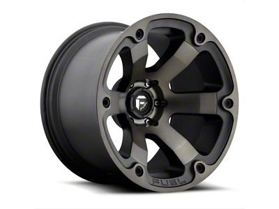 Fuel Wheels Beast Matte Black Machined 6-Lug Wheel - 22x12 (99-18 Silverado 1500)