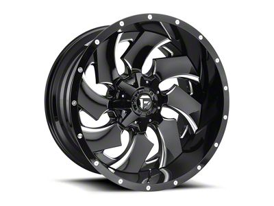 Fuel Wheels Cleaver Black Milled 6-Lug Wheel - 20x10 (99-18 Silverado 1500)