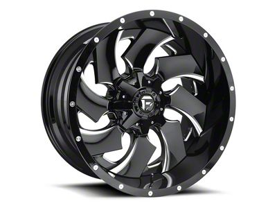 Fuel Wheels Cleaver Black Milled 6-Lug Wheel - 20x14 (99-18 Silverado 1500)