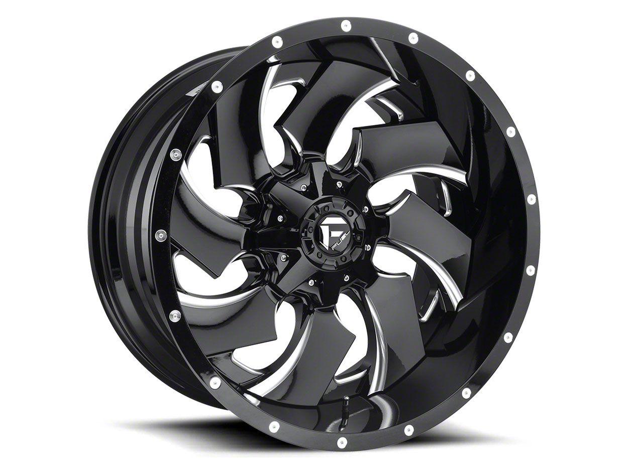 Fuel Wheels Cleaver Black Milled 6-Lug Wheel - 24x16 (99-18 Silverado 1500)