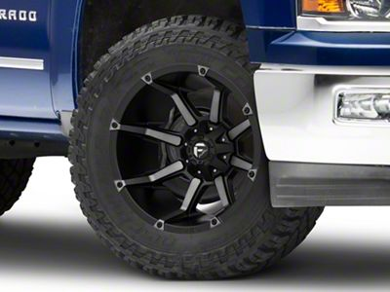 Fuel Wheels Coupler Black Machined 6-Lug Wheel - 20x12 (99-18 Silverado 1500)