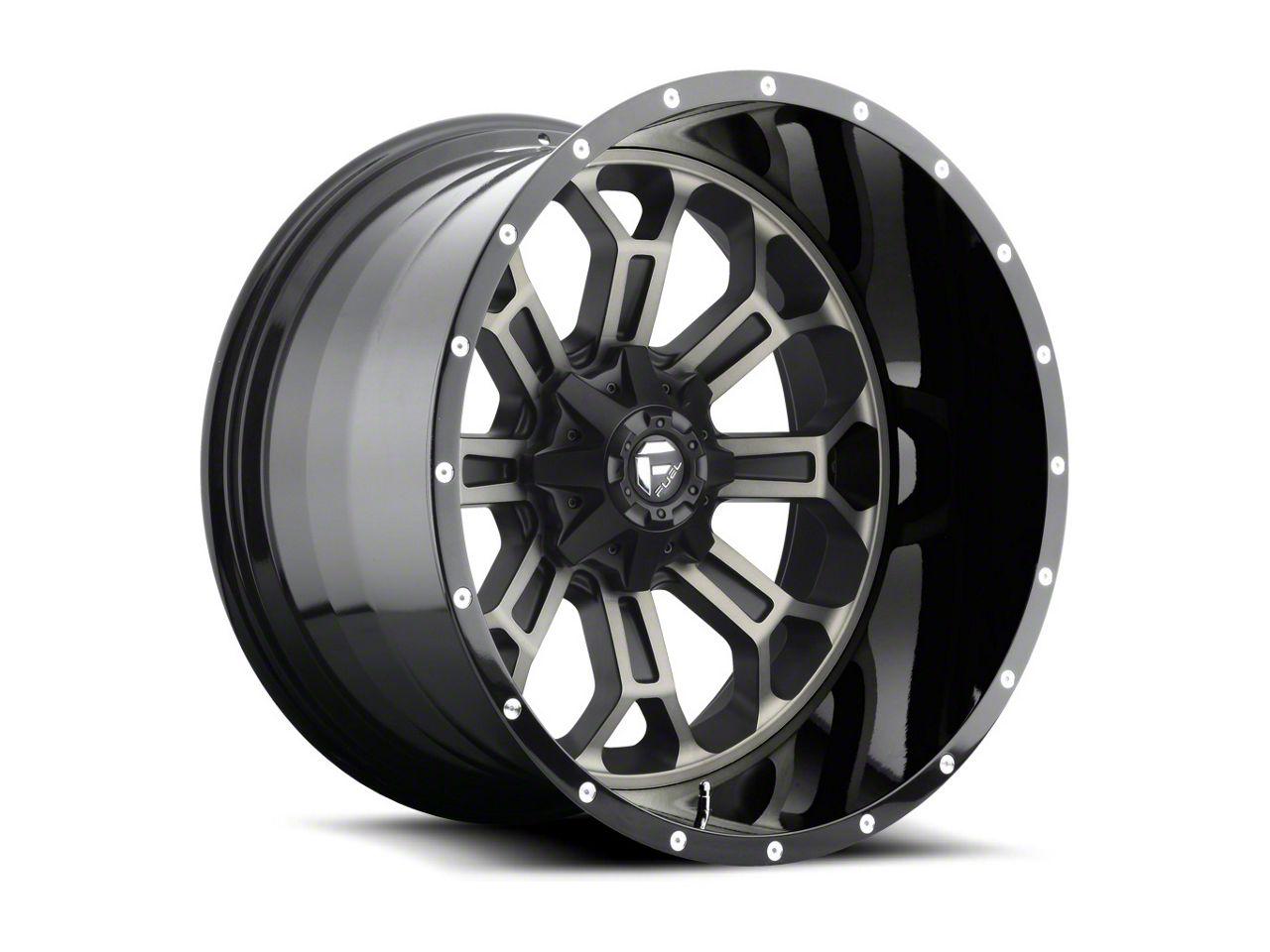 Fuel Wheels Crush Matte Black Machined 6-Lug Wheel - 20x12 (99-18 Silverado 1500)