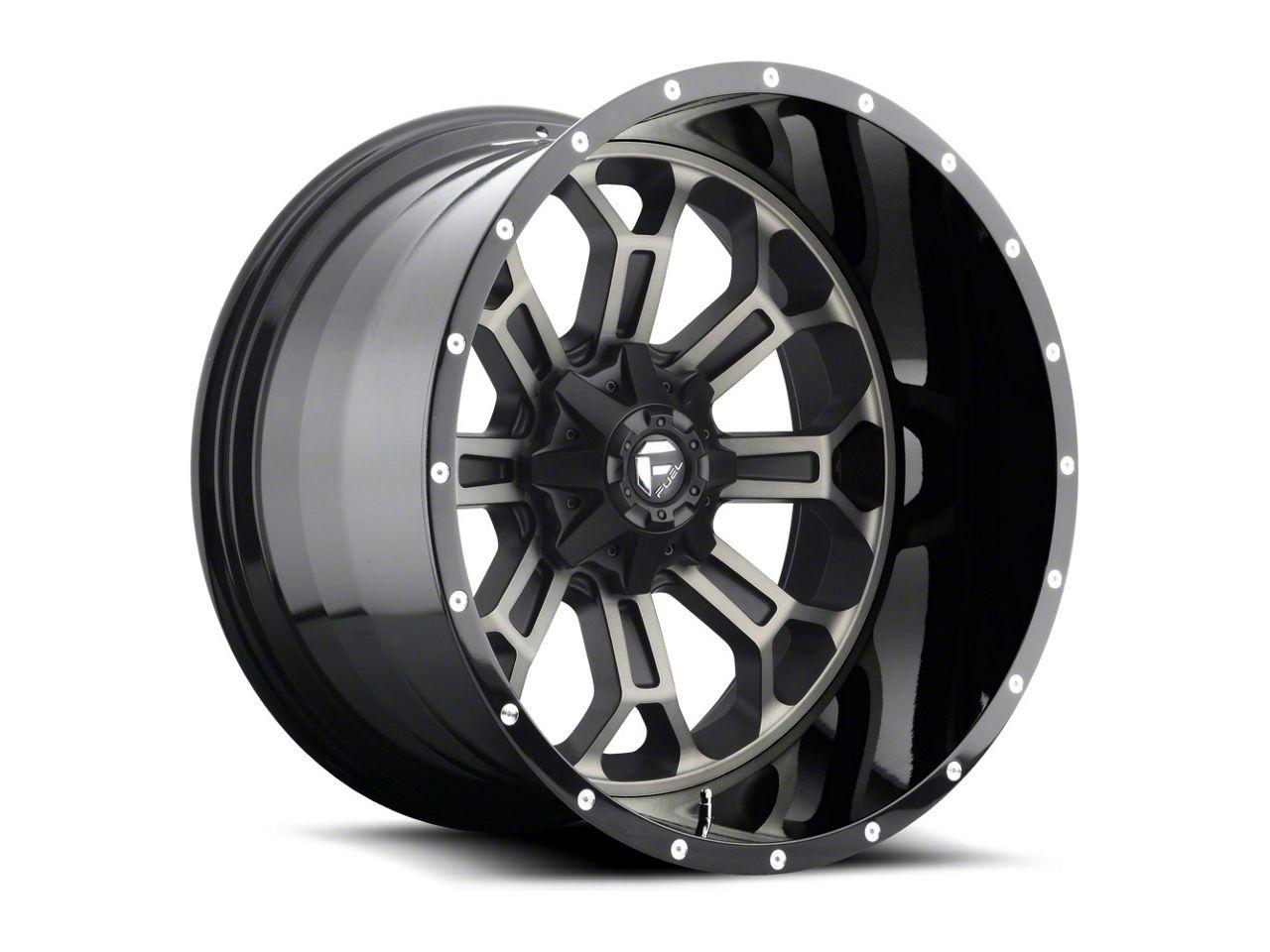 Fuel Wheels Crush Matte Black Machined 6-Lug Wheel - 22x12 (99-18 Silverado 1500)