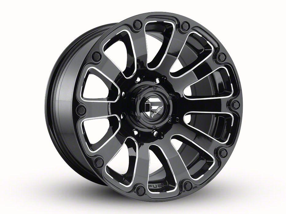 Fuel Wheels Diesel Gloss Black Milled 6-Lug Wheel - 20x10 (99-18 Silverado 1500)