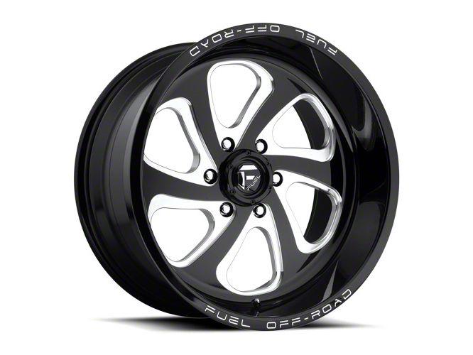 Fuel Wheels Flow Gloss Black Milled 6-Lug Wheel - 22x10 (99-18 Silverado 1500)