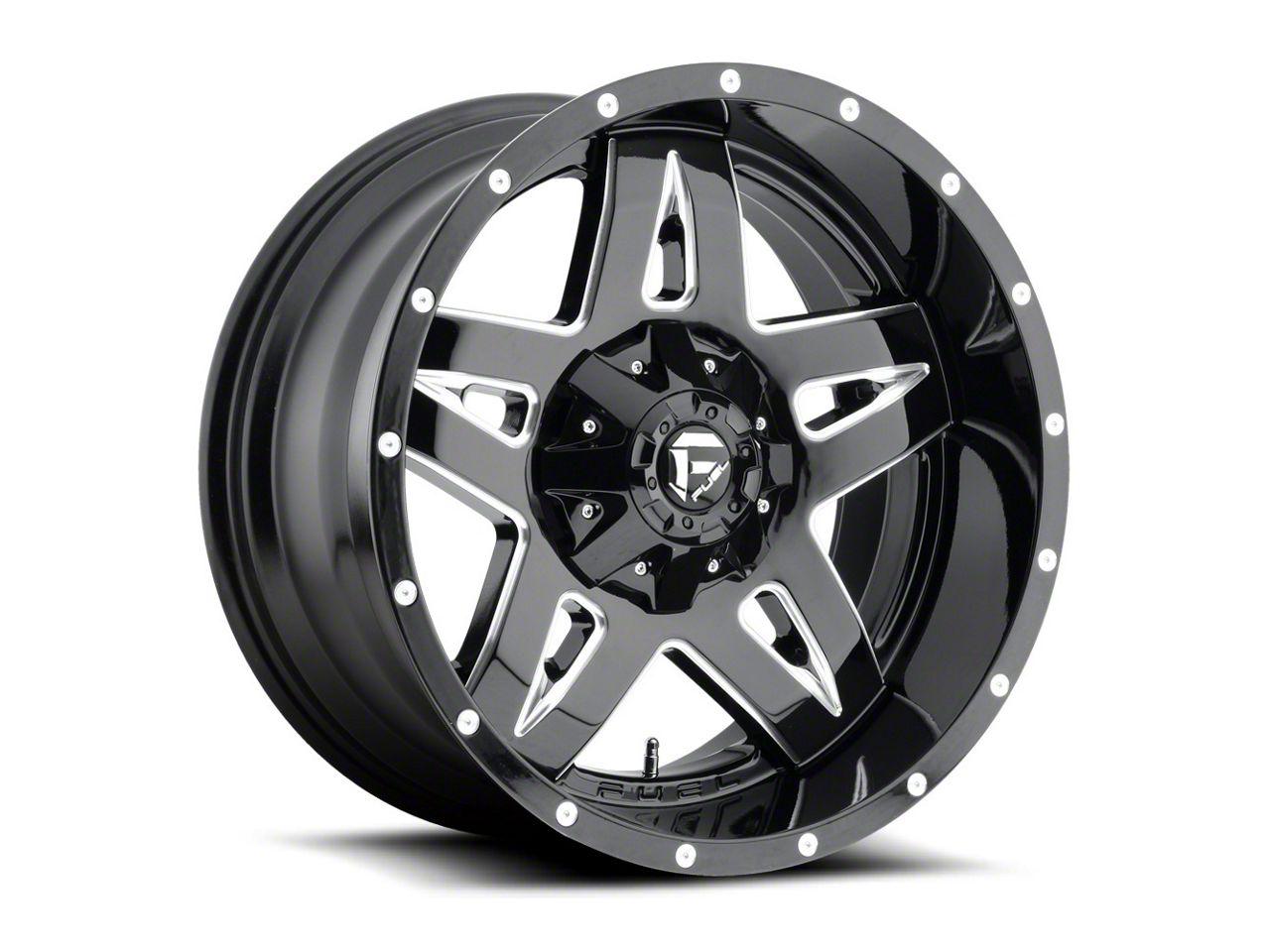 Fuel Wheels Full Blown Black Milled 6-Lug Wheel - 20x12 (99-18 Silverado 1500)
