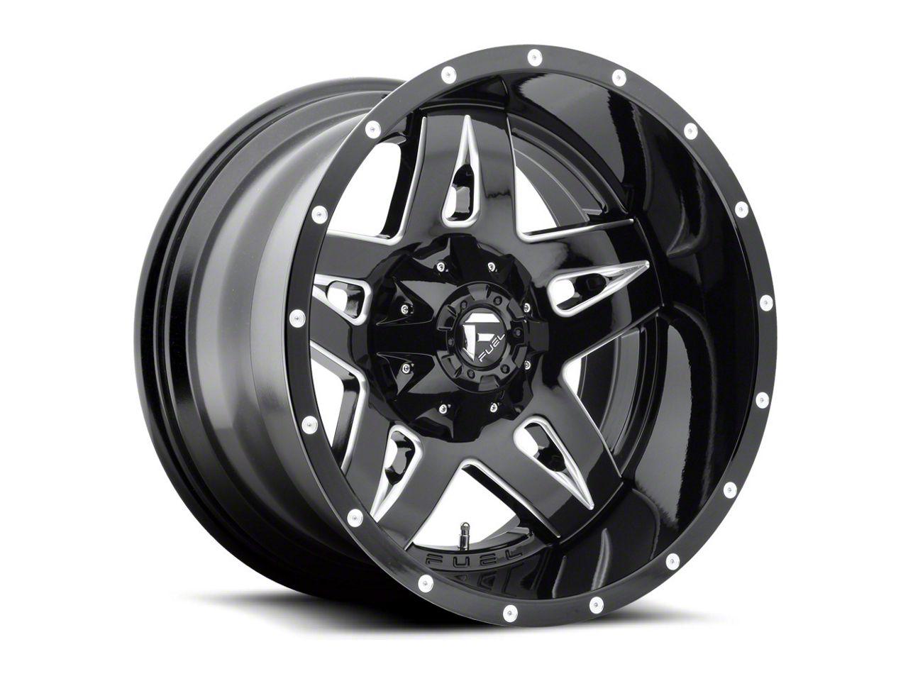 Fuel Wheels Full Blown Black Milled 6-Lug Wheel - 20x9 (99-18 Silverado 1500)