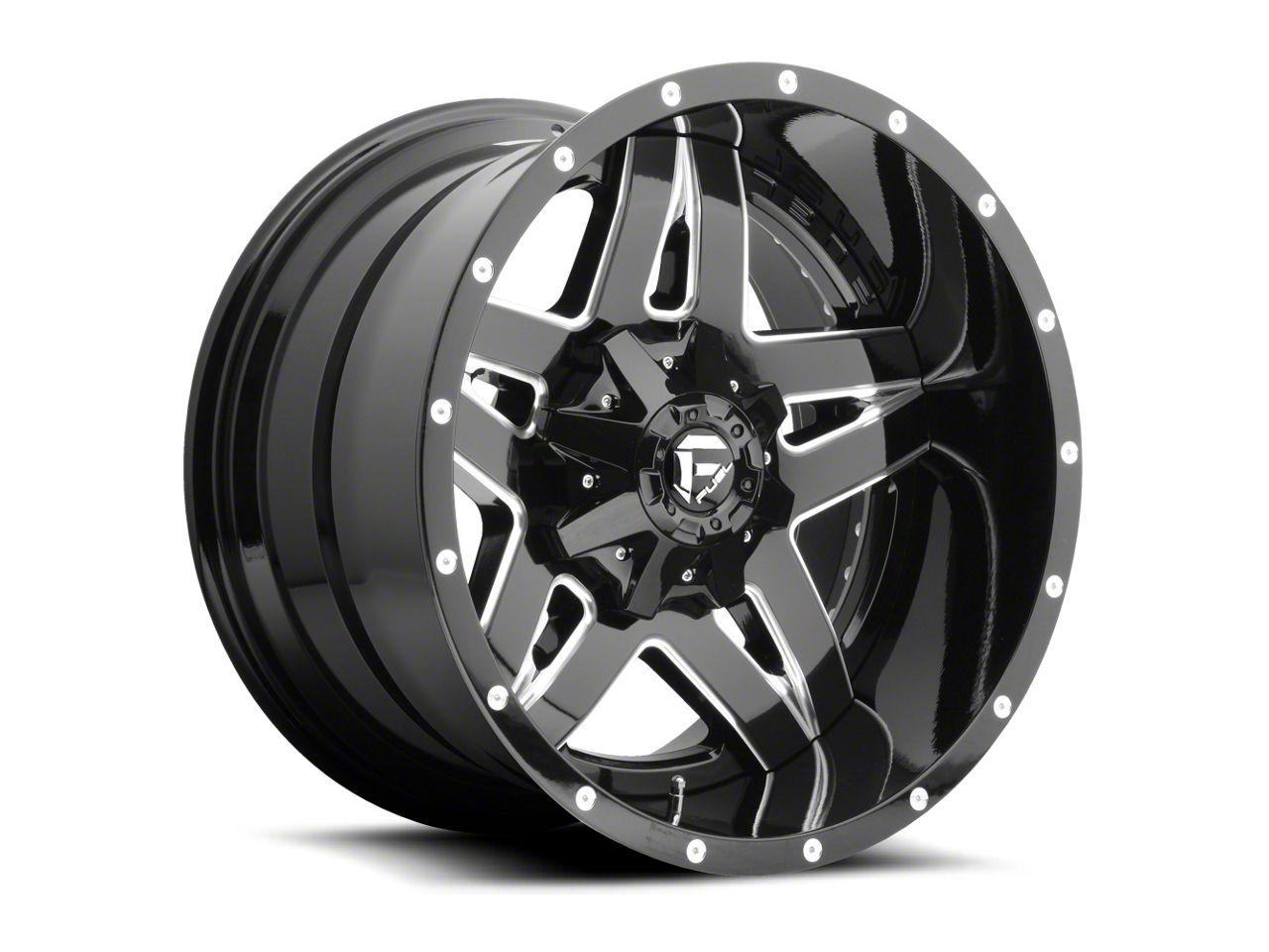 Fuel Wheels Full Blown Black Milled 6-Lug Wheel - 22x12 (99-18 Silverado 1500)