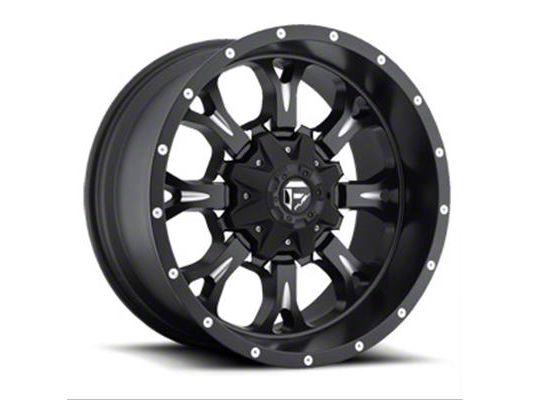 Fuel Wheels Krank Black Milled 6-Lug Wheel - 22x11 (99-18 Silverado 1500)