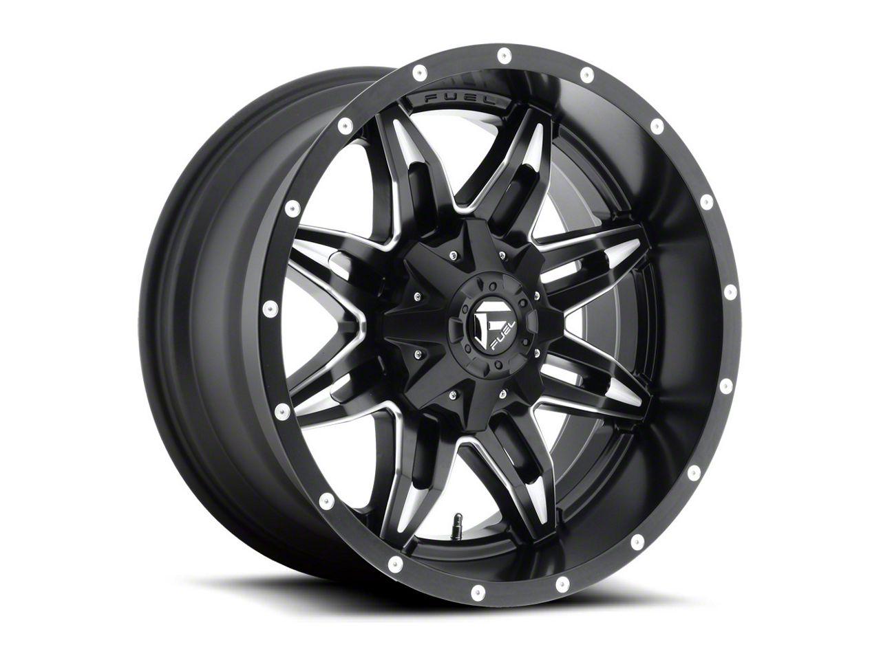 Fuel Wheels Lethal Black Milled 6-Lug Wheel - 20x12 (99-18 Silverado 1500)