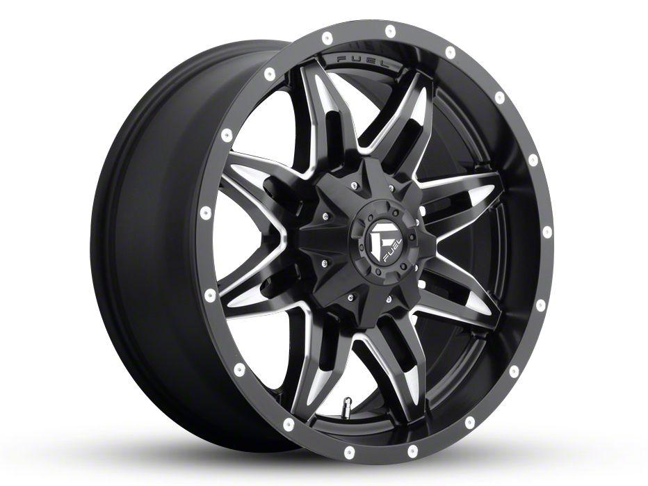 Fuel Wheels Lethal Black Milled 6-Lug Wheel - 20x9 (99-18 Silverado 1500)