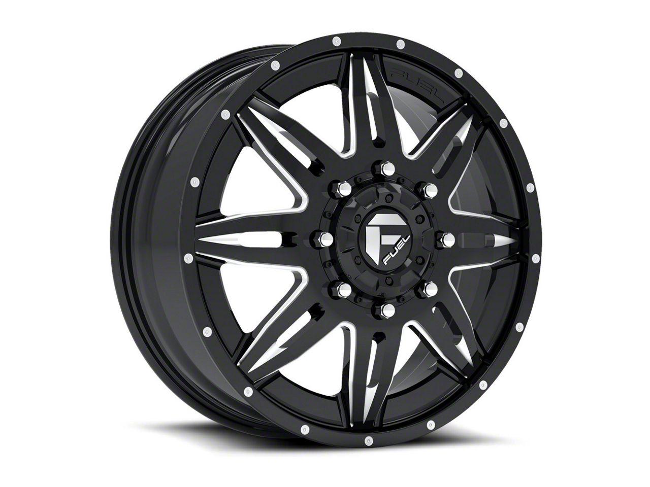 Fuel Wheels Lethal Black Milled 6-Lug Wheel - 22x12 (99-18 Silverado 1500)