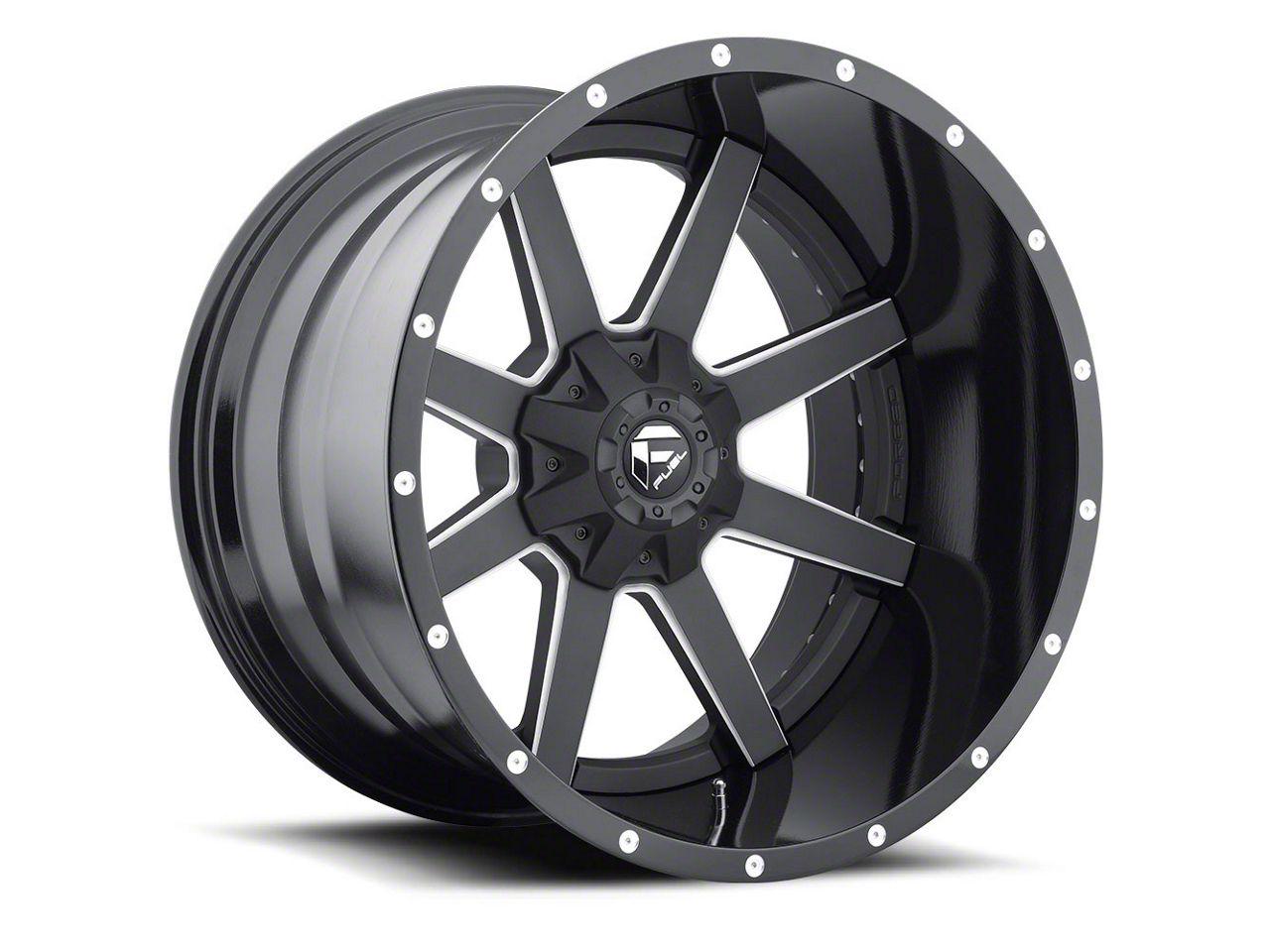 Fuel Wheels Maverick 2-Piece Black Milled 6-Lug Wheel - 20x12 (99-18 Silverado 1500)