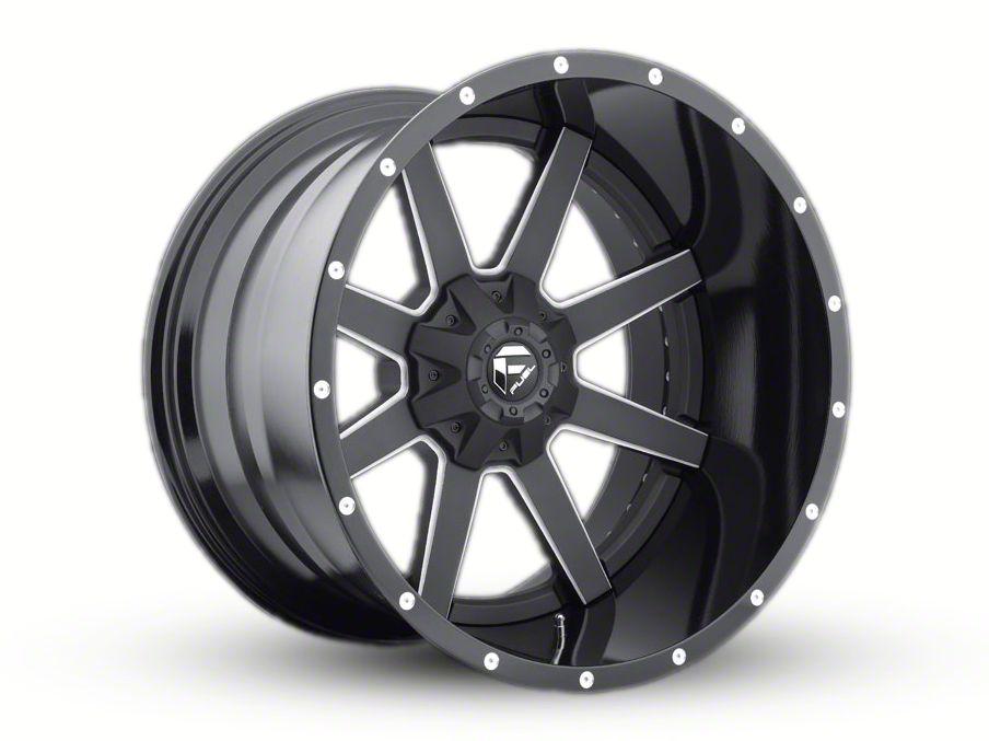 Fuel Wheels Maverick 2-Piece Black Milled 6-Lug Wheel - 24x14 (99-18 Silverado 1500)