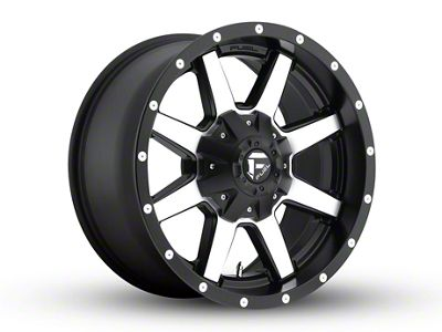 Fuel Wheels Maverick Black Machined 6-Lug Wheel - 18x12 (99-18 Silverado 1500)