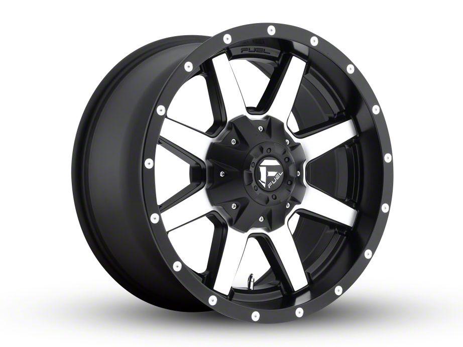 Fuel Wheels Maverick Black Machined 6-Lug Wheel - 18x12 (99-19 Silverado 1500)
