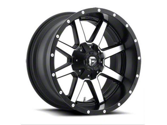 Fuel Wheels Maverick Black Machined 6-Lug Wheel - 20x14 (99-18 Silverado 1500)