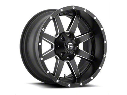 Fuel Wheels Maverick Black Milled 6-Lug Wheel - 20x14 (99-18 Silverado 1500)