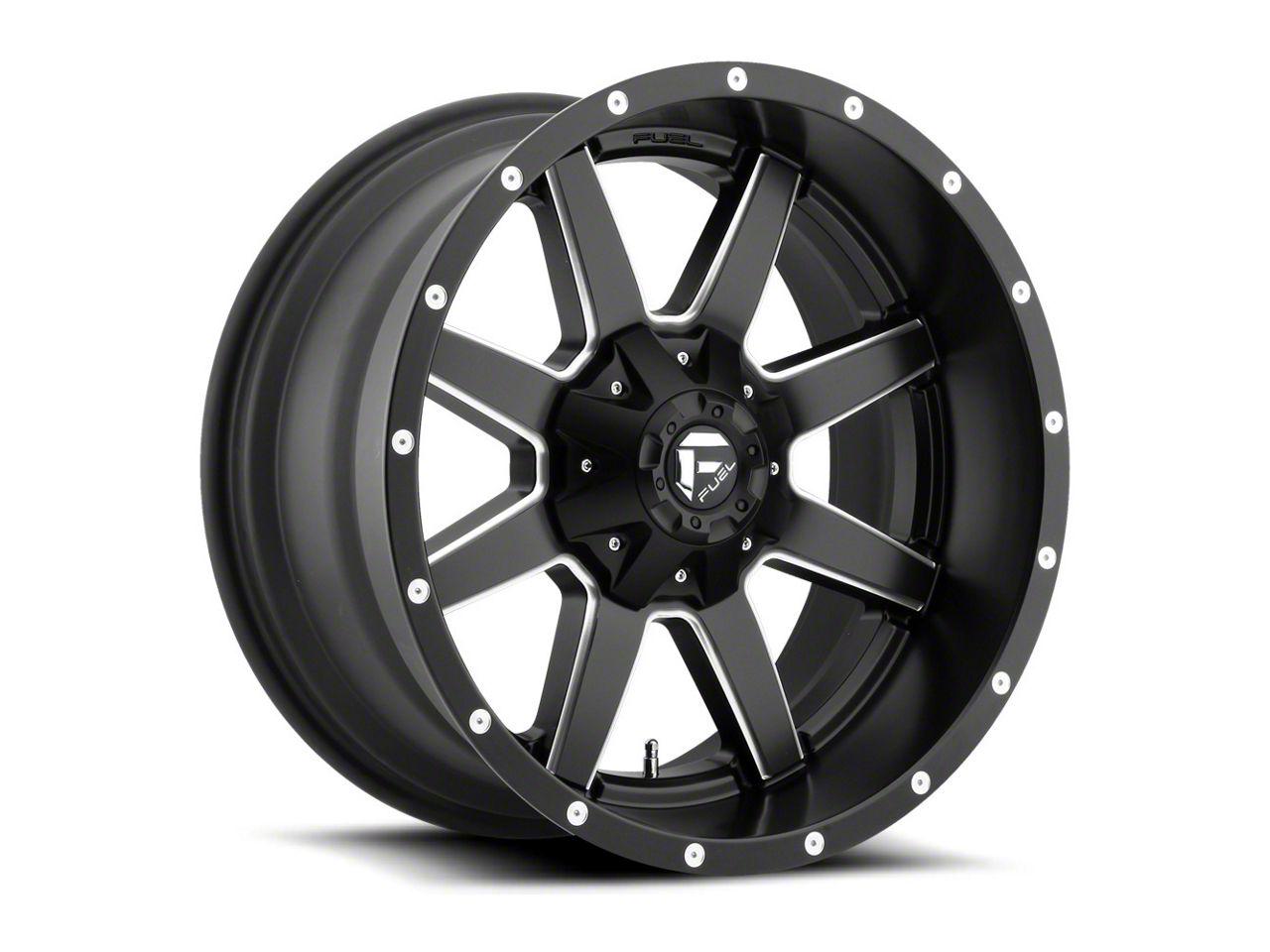 Fuel Wheels Maverick Black Milled 6-Lug Wheel - 22x9.5 (99-18 Silverado 1500)