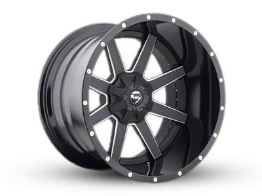 Fuel Wheels Maverick Black Milled 6-Lug Wheel - 24x16 (99-18 Silverado 1500)