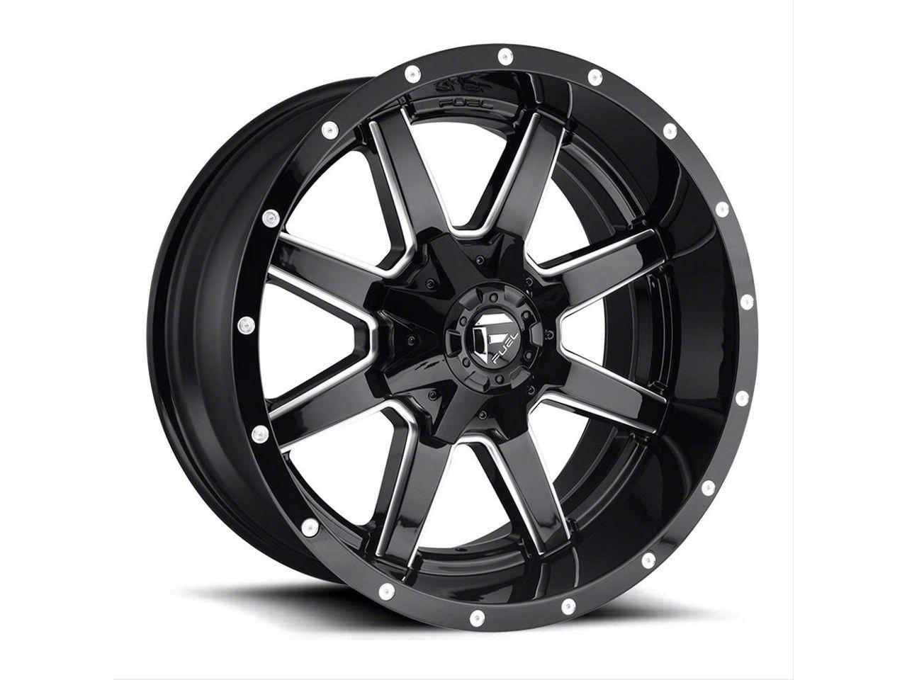 Fuel Wheels Maverick Gloss Black Milled 6-Lug Wheel - 22x10 (99-18 Silverado 1500)