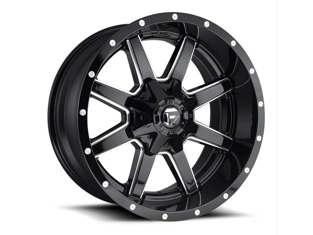 Fuel Wheels Maverick Gloss Black Milled 6-Lug Wheel - 22x12 (99-18 Silverado 1500)