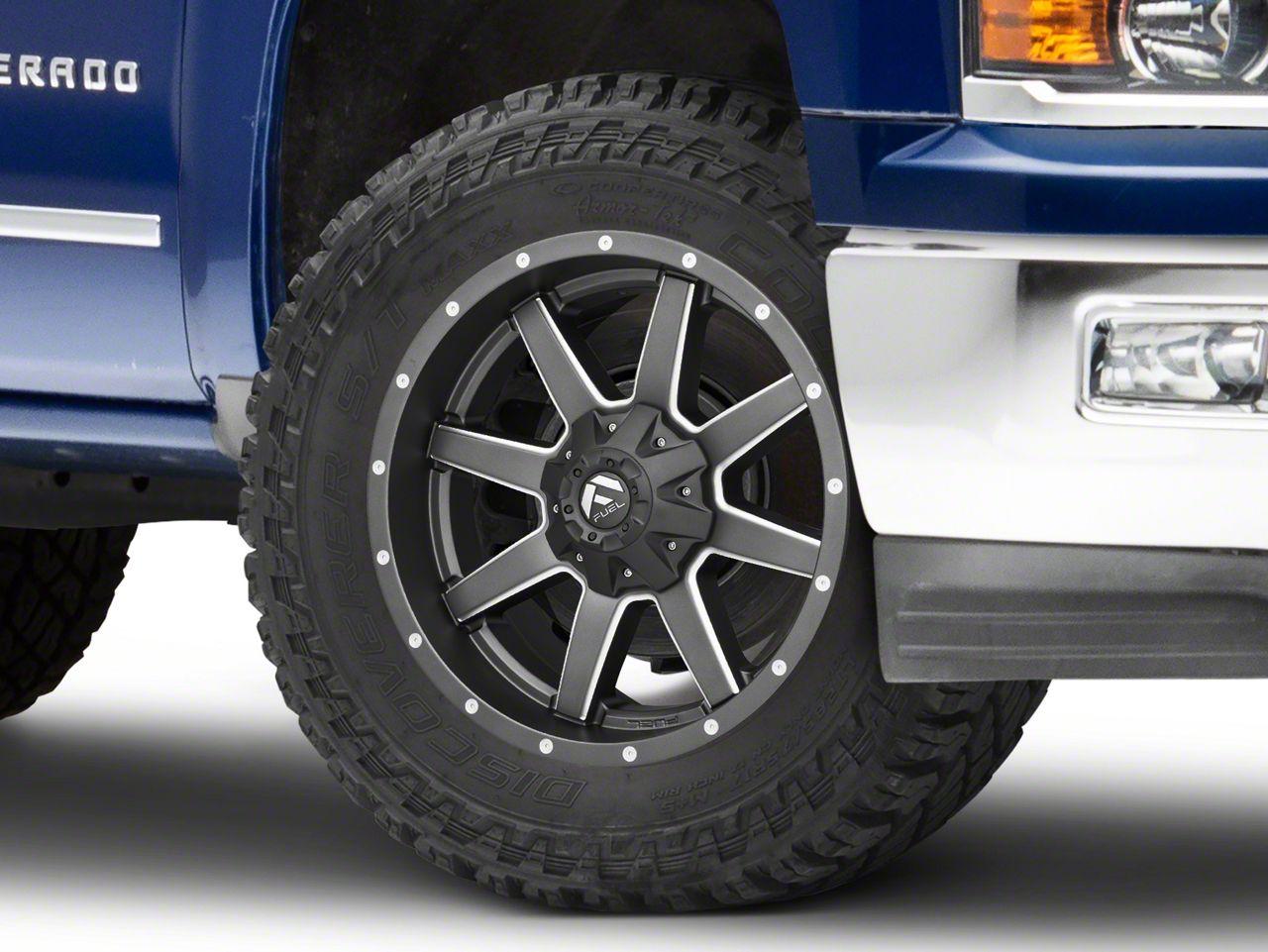 Fuel Wheels Maverick Gun Metal 6-Lug Wheel - 20x10 (99-18 Silverado 1500)