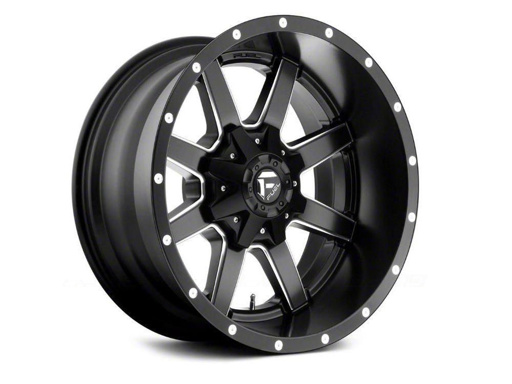 Fuel Wheels Maverick Matte Black Milled 6-Lug Wheel - 24x12 (99-18 Silverado 1500)