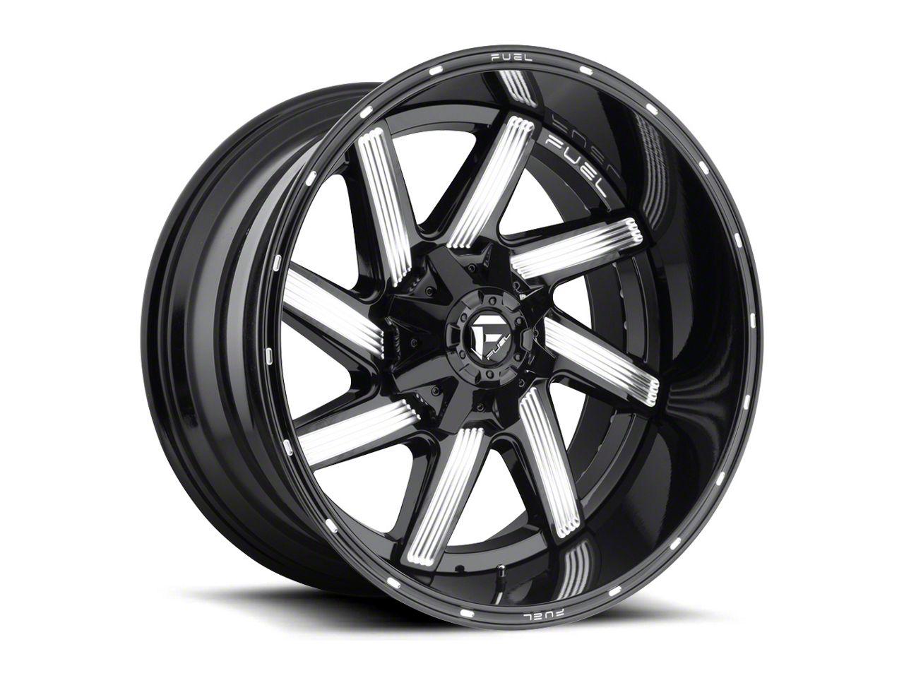 Fuel Wheels Moab Gloss Black Milled 6-Lug Wheel - 22x10 (99-18 Silverado 1500)