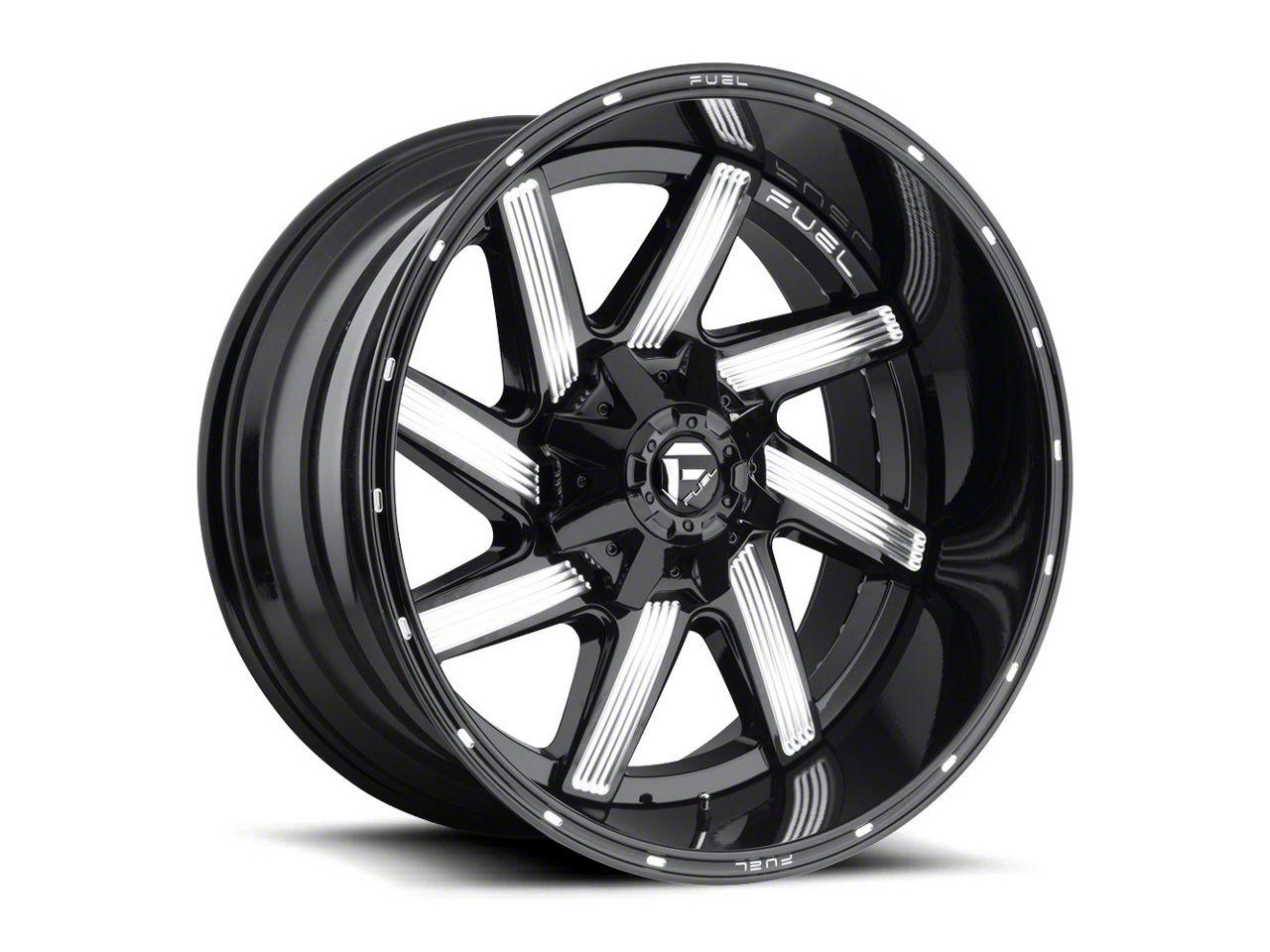 Fuel Wheels Moab Gloss Black Milled 6-Lug Wheel - 22x12 (99-18 Silverado 1500)