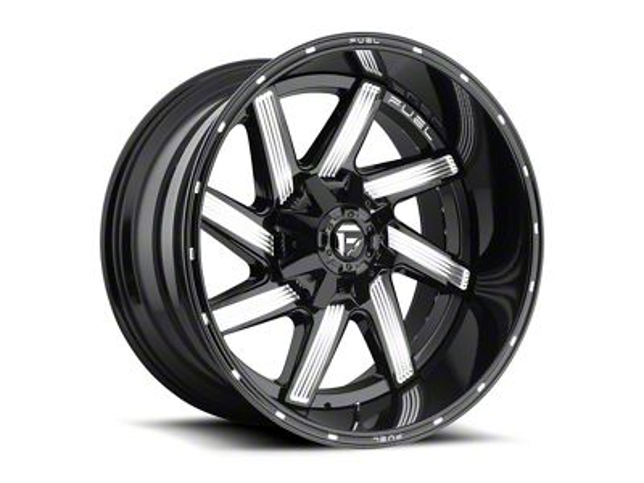 Fuel Wheels Moab Gloss Black Milled 6-Lug Wheel - 22x14 (99-18 Silverado 1500)