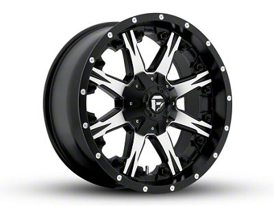 Fuel Wheels NUTZ Black Machined 6-Lug Wheel - 20x9 (99-18 Silverado 1500)
