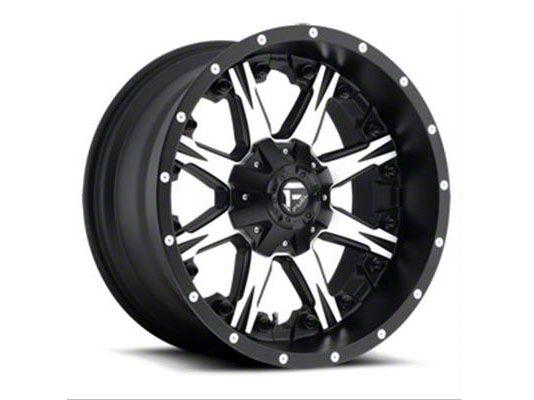 Fuel Wheels NUTZ Black Machined 6-Lug Wheel - 22x12 (99-18 Silverado 1500)
