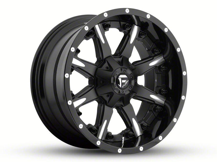 Fuel Wheels NUTZ Black Milled 6-Lug Wheel - 20x10 (99-18 Silverado 1500)