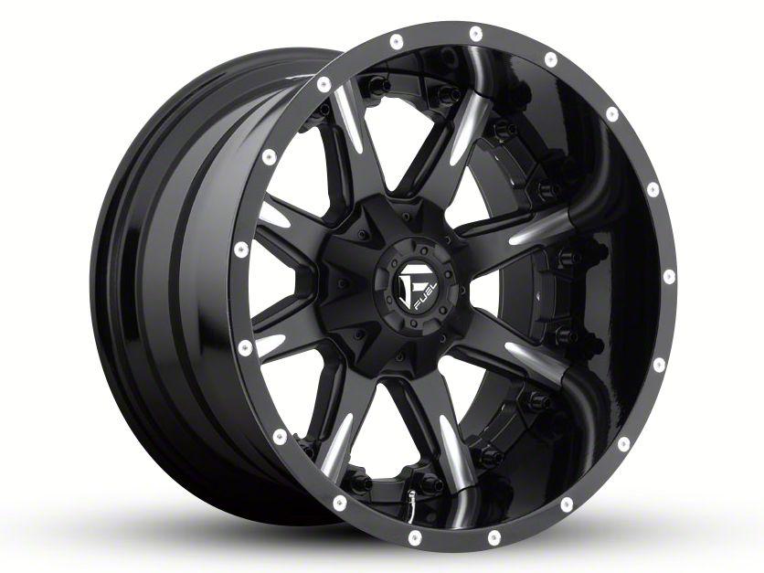 Fuel Wheels NUTZ Black Milled 6-Lug Wheel - 20x12 (99-18 Silverado 1500)
