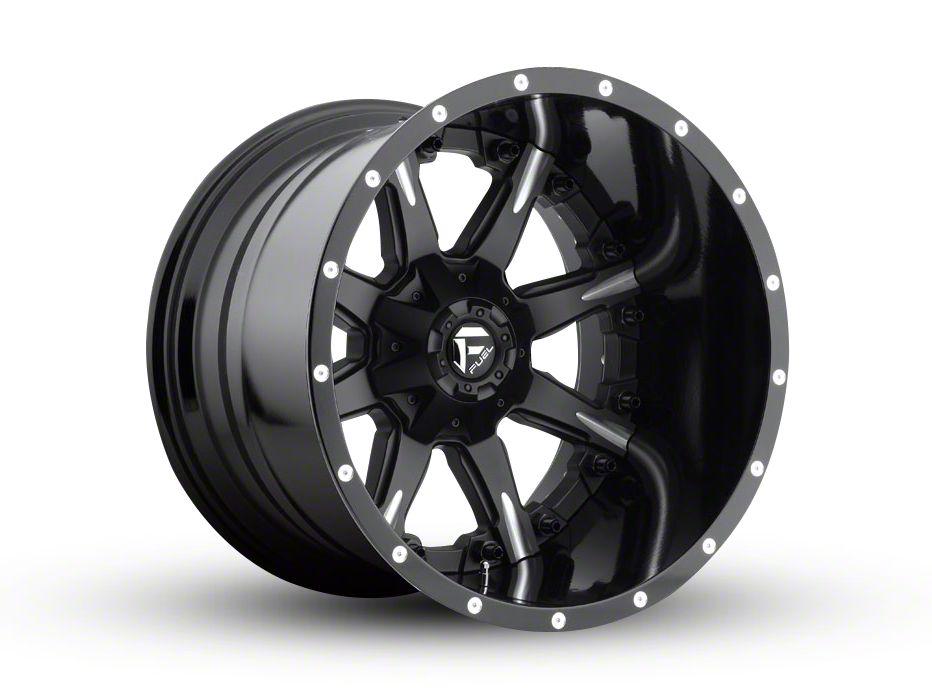 Fuel Wheels NUTZ Black Milled 6-Lug Wheel - 20x14 (99-18 Silverado 1500)