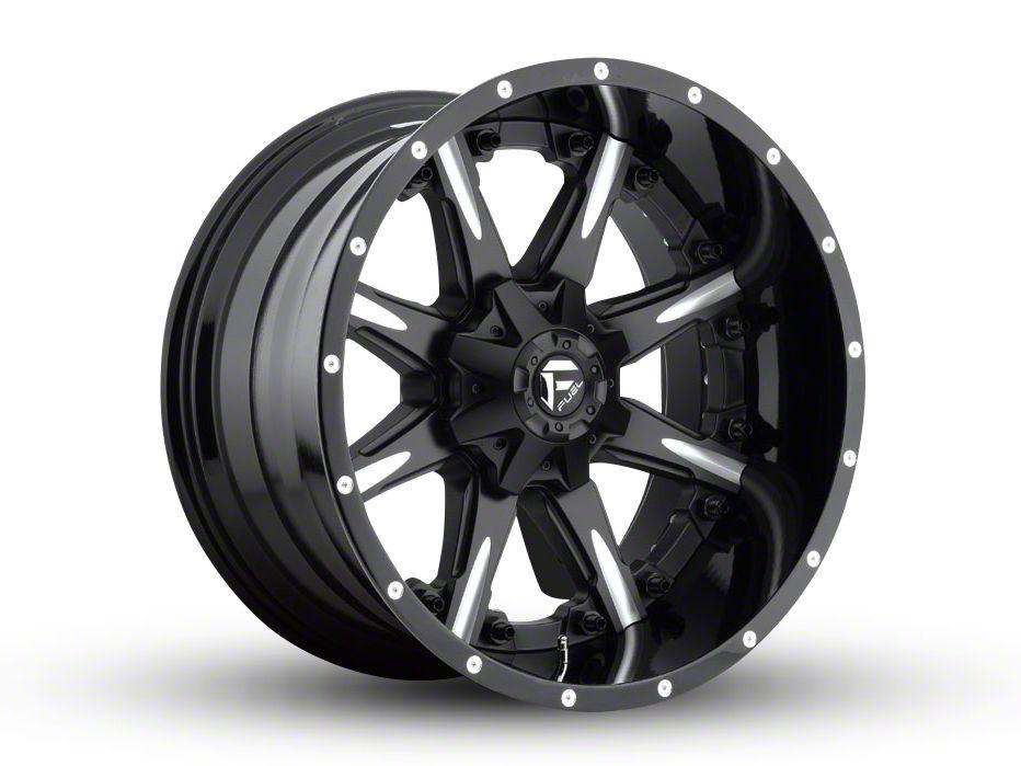 Fuel Wheels NUTZ Black Milled 6-Lug Wheel - 22x12 (99-18 Silverado 1500)