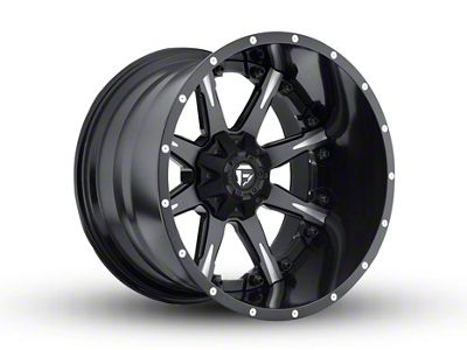 Fuel Wheels NUTZ Black Milled 6-Lug Wheel - 22x14 (99-18 Silverado 1500)