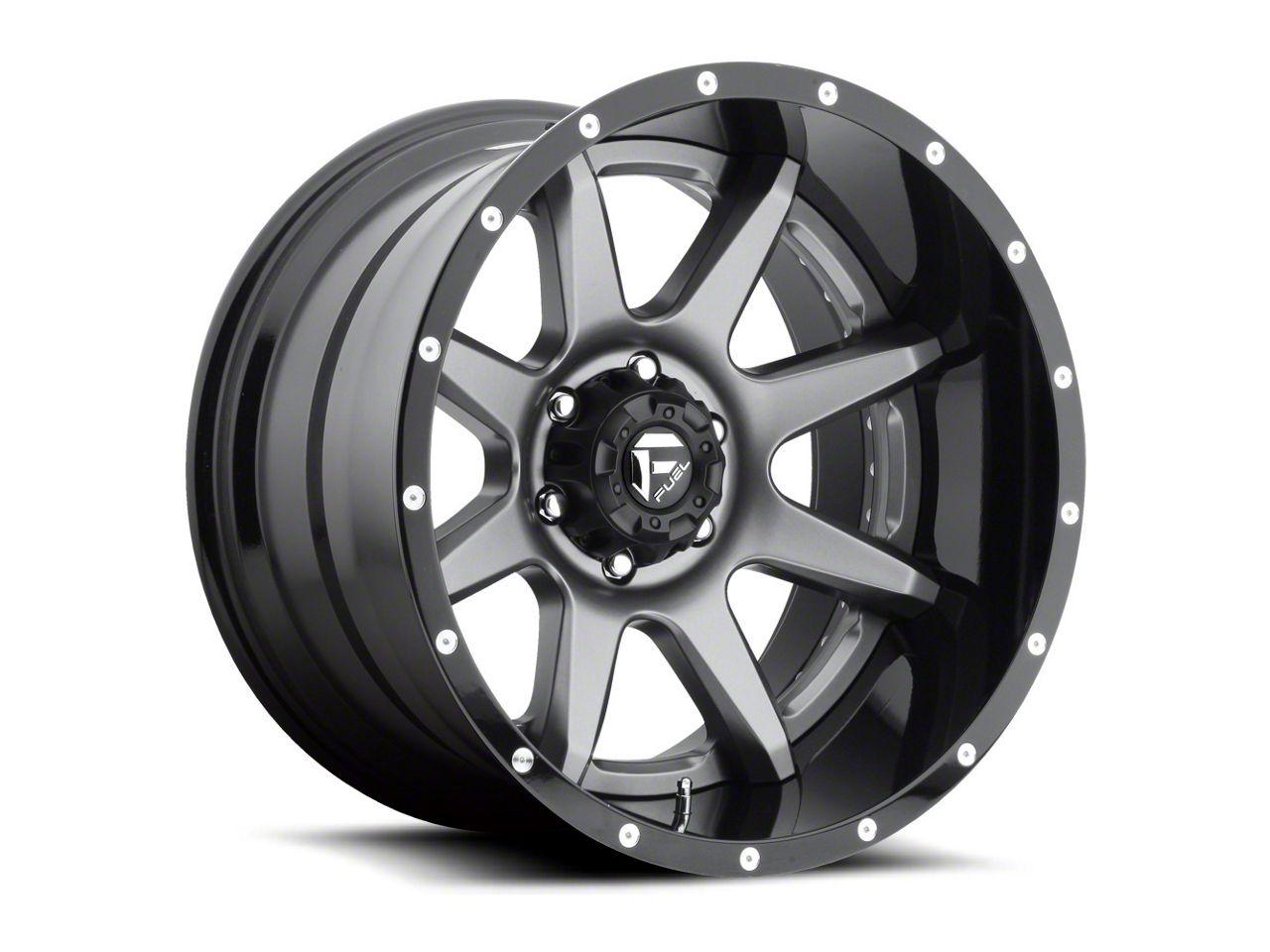 Fuel Wheels Rampage Gun Metal 6-Lug Wheel - 20x10 (99-18 Silverado 1500)