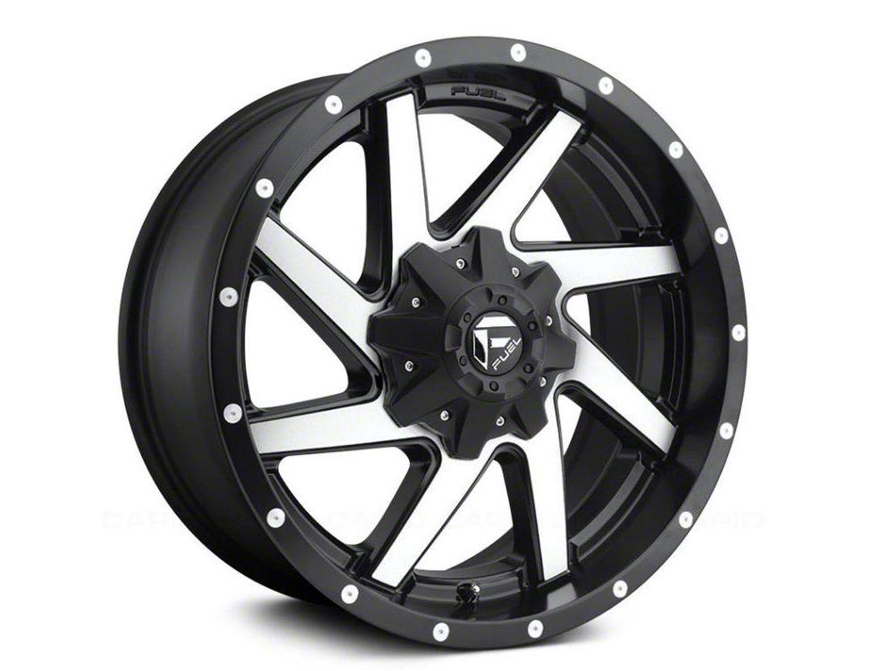Fuel Wheels Renegade Black Machined 6-Lug Wheel - 20x10 (99-18 Silverado 1500)