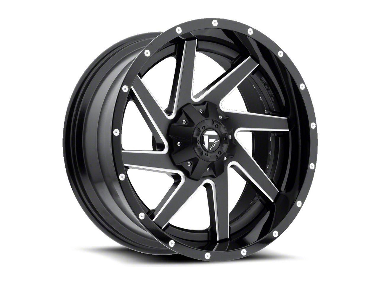 Fuel Wheels Renegade Black Milled 6-Lug Wheel - 20x10 (99-18 Silverado 1500)