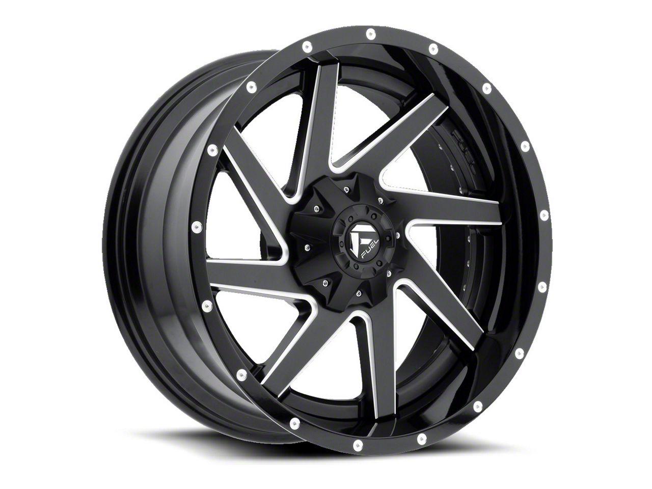 Fuel Wheels Renegade Black Milled 6-Lug Wheel - 20x12 (99-18 Silverado 1500)