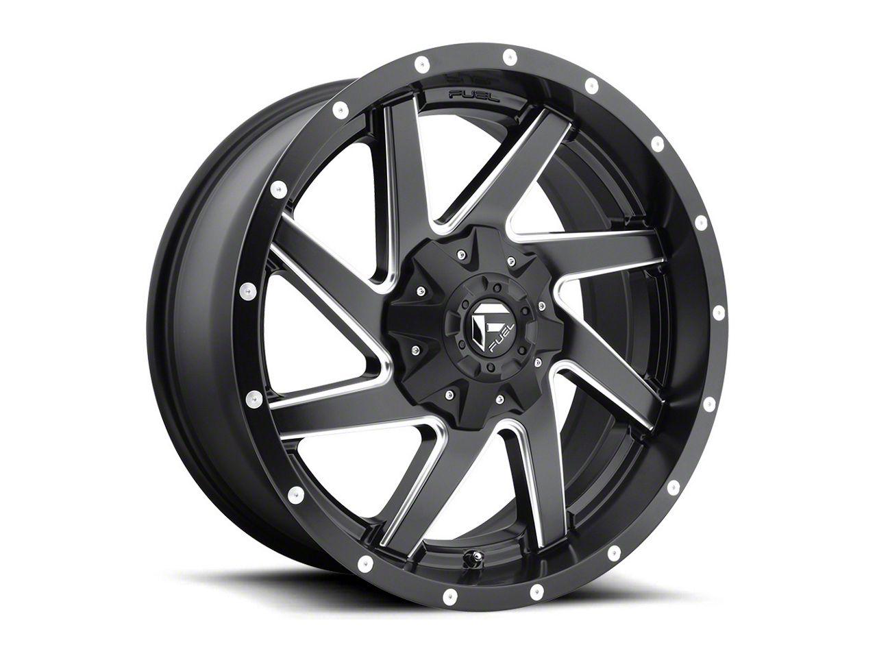 Fuel Wheels Renegade Matte Black Milled 6-Lug Wheel - 20x10 (99-18 Silverado 1500)