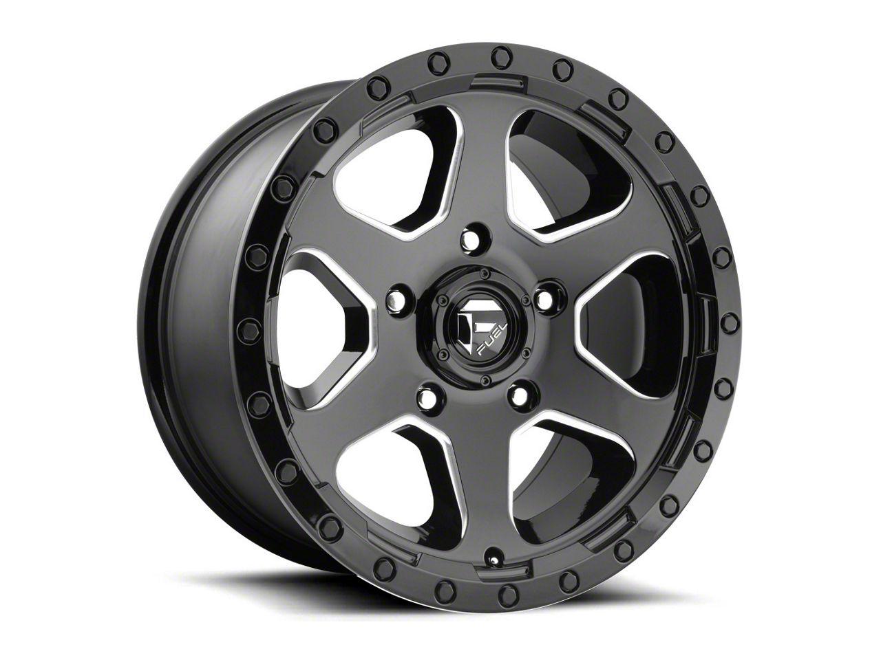 Fuel Wheels Ripper Gloss Black Milled 6-Lug Wheel - 20x10 (99-18 Silverado 1500)